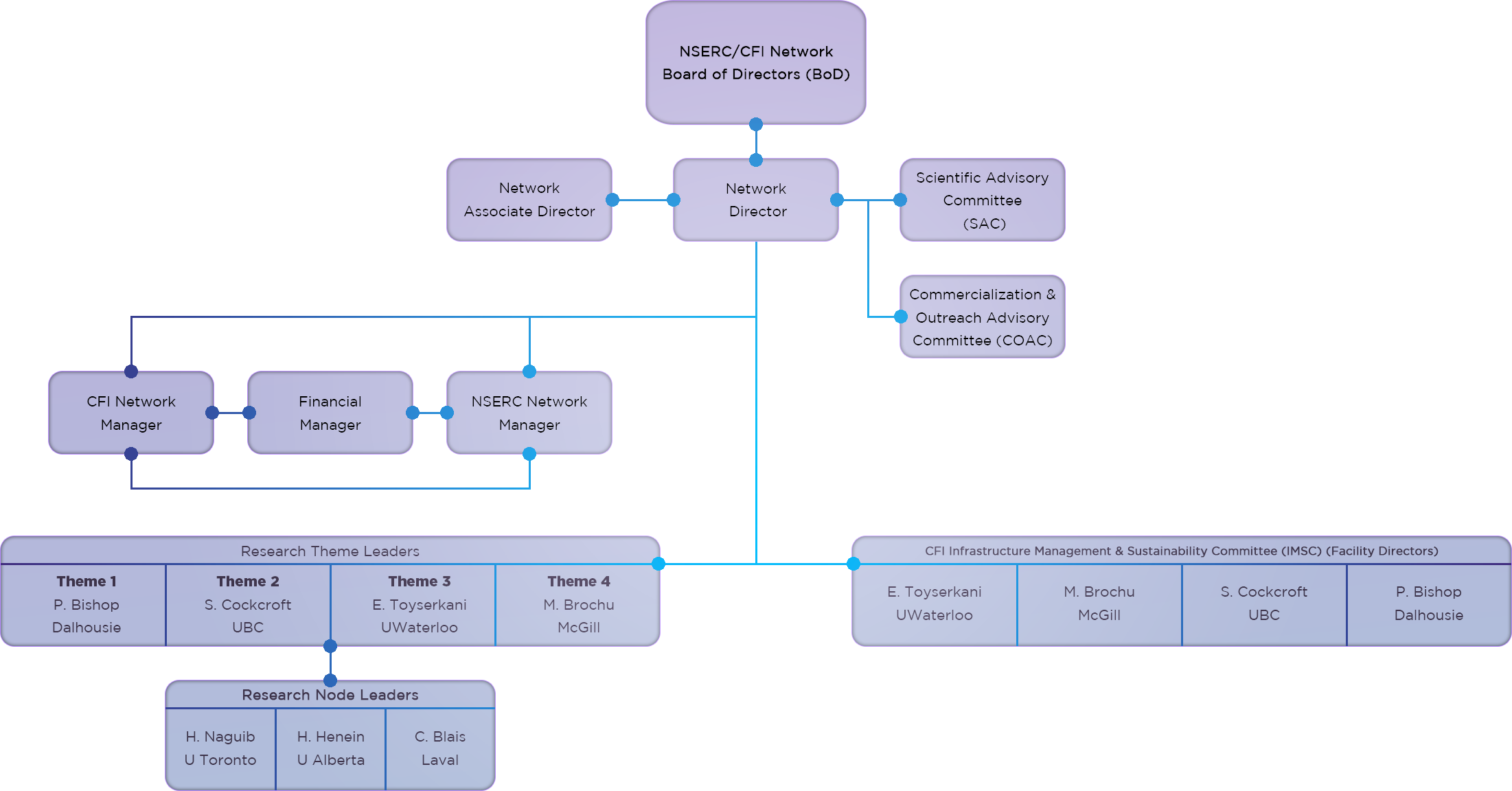 NSERC HI-AM Organizational Chart